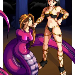 A commission from a nice chap called Lemondrop. It's a sorceress turning a lady into a naga.
