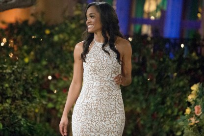 """BACHELORETTE 13 - Episode 1301 - Accomplished Texas attorney Rachel Lindsay takes a recess from the courtroom to start her search for happily ever after in the 13th edition of ABC's hit series, """"The Bachelorette,"""" premiering at a special time, MONDAY, MAY 22 (9:01-11:00 p.m. EDT), on The ABC Television Network. (Paul Hebert/ABC via Getty Images) RACHEL LINDSAY"""