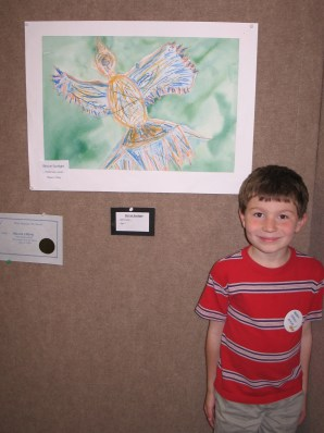 Little Missy's friend with his amazing artwork