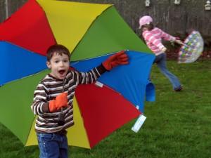 simple life, kid view, rain, umbrella, positive
