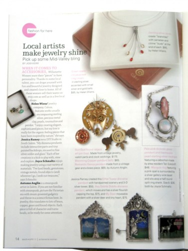 Article by Jodi Kerr, Artisan Jewelry, Salem oregon