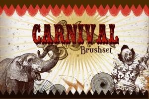 carnival and circus photoshop brushes, brush set, brush, vintage, graphics
