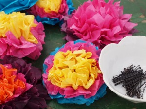 paper flowers for hair