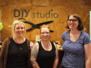 Juanita Browne, Jodi Thomas, and Jessica Ramey at DIY Studio