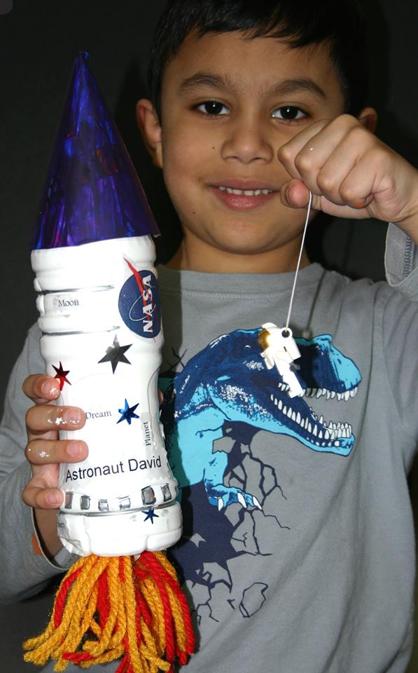 Rocket from water bottle created by David