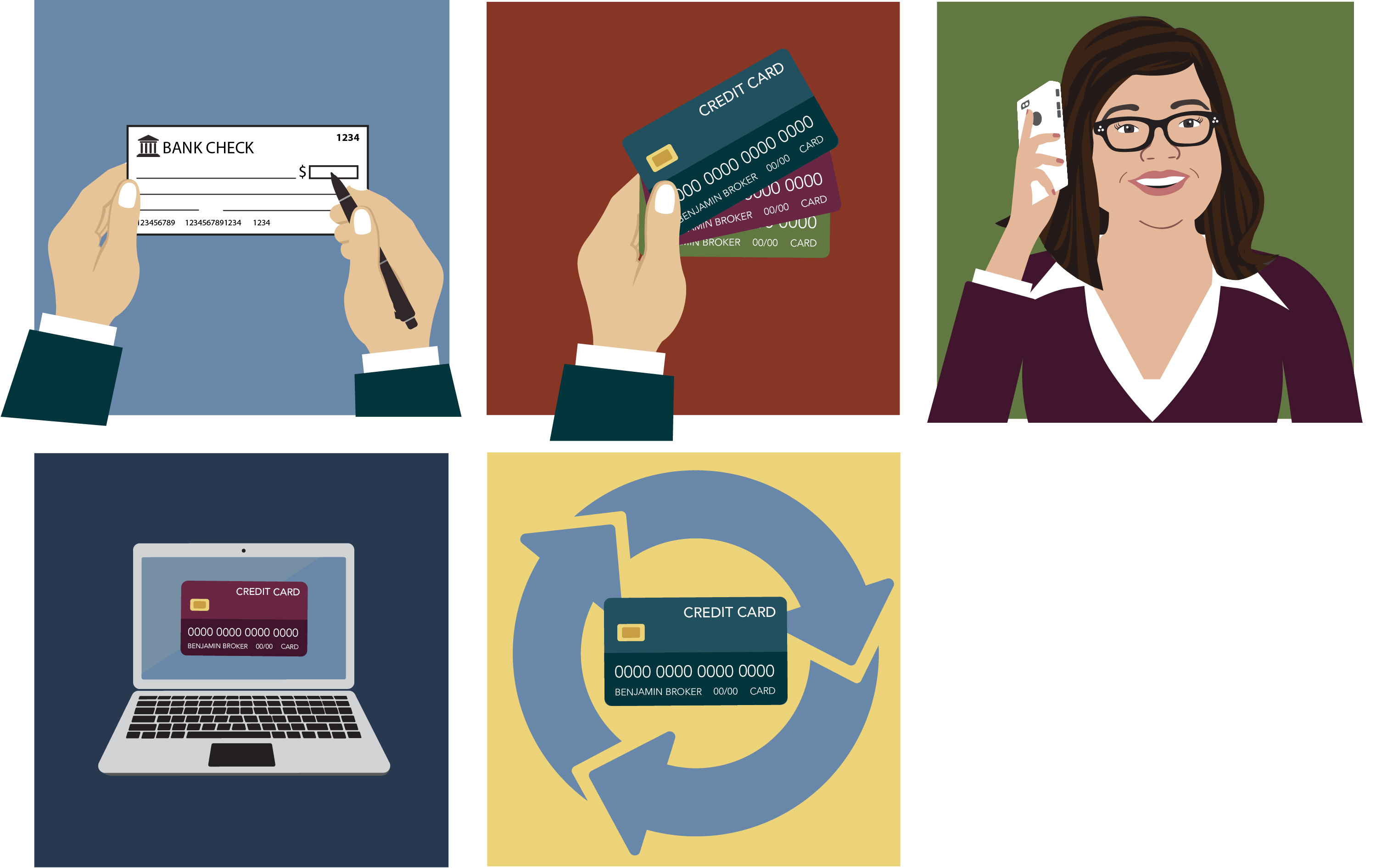 payment options illustrations