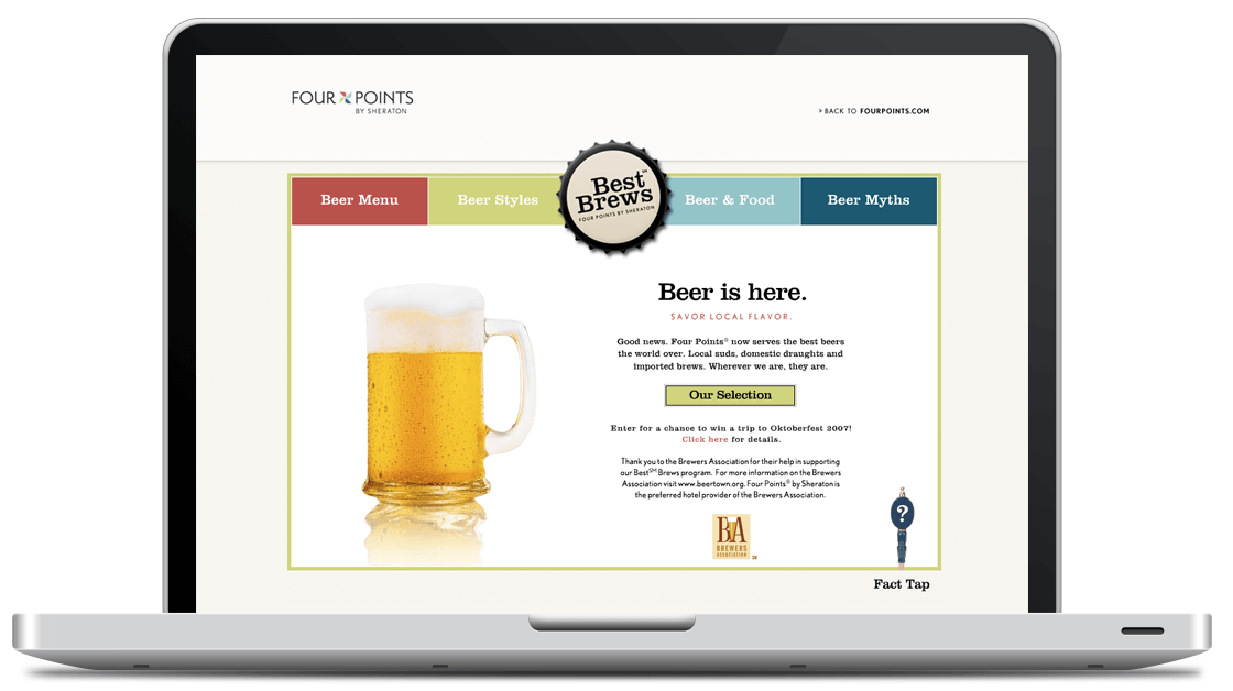 Beer curriculum and content for Four Points by Sheraton