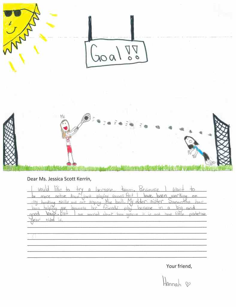 Child's drawing of lacrosse