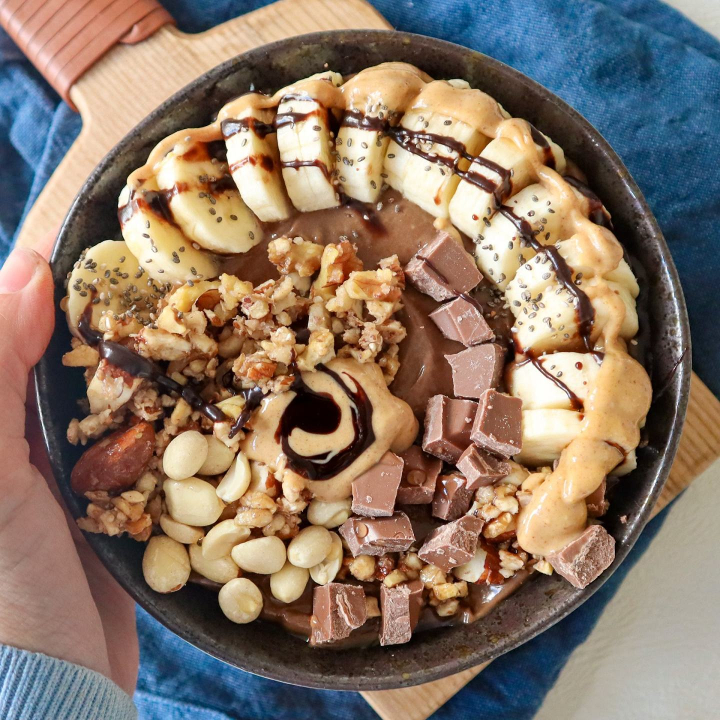 snickers smoothie bowl