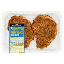 ASDA Butcher's Selection 2 Honey & Mustard Pork Chops - ASDA Groceries