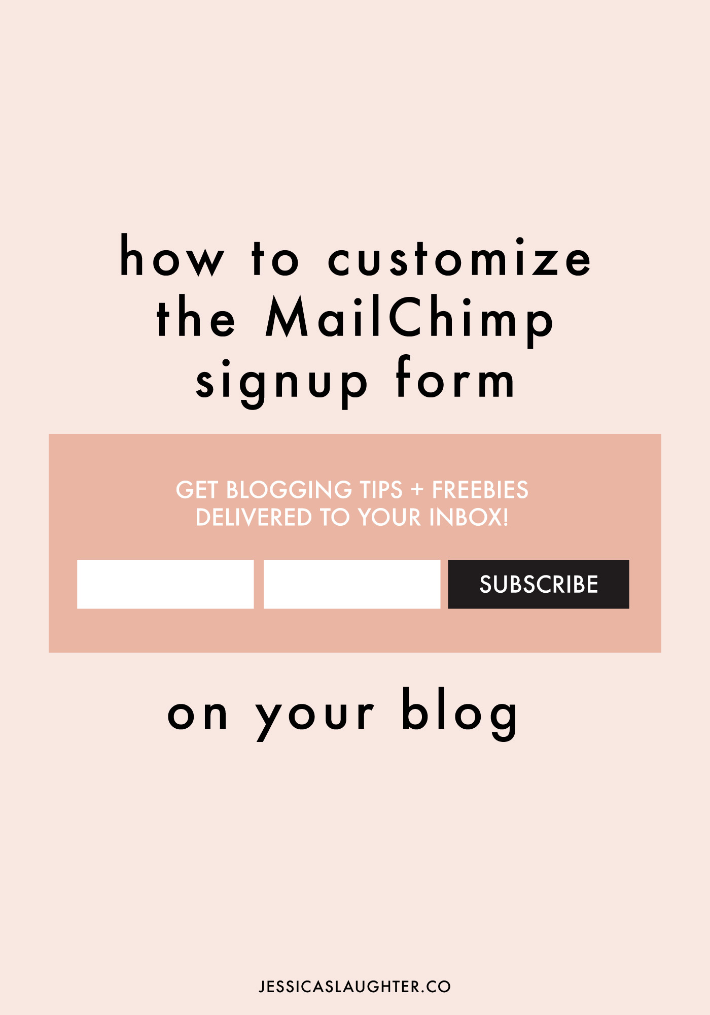 How to customize the mailchimp signup form for Write my own will template