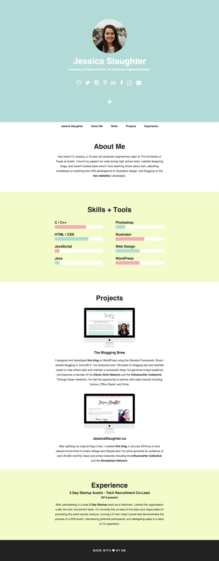 Resume Website: Jessica Slaughter from JessicaSlaughter.co