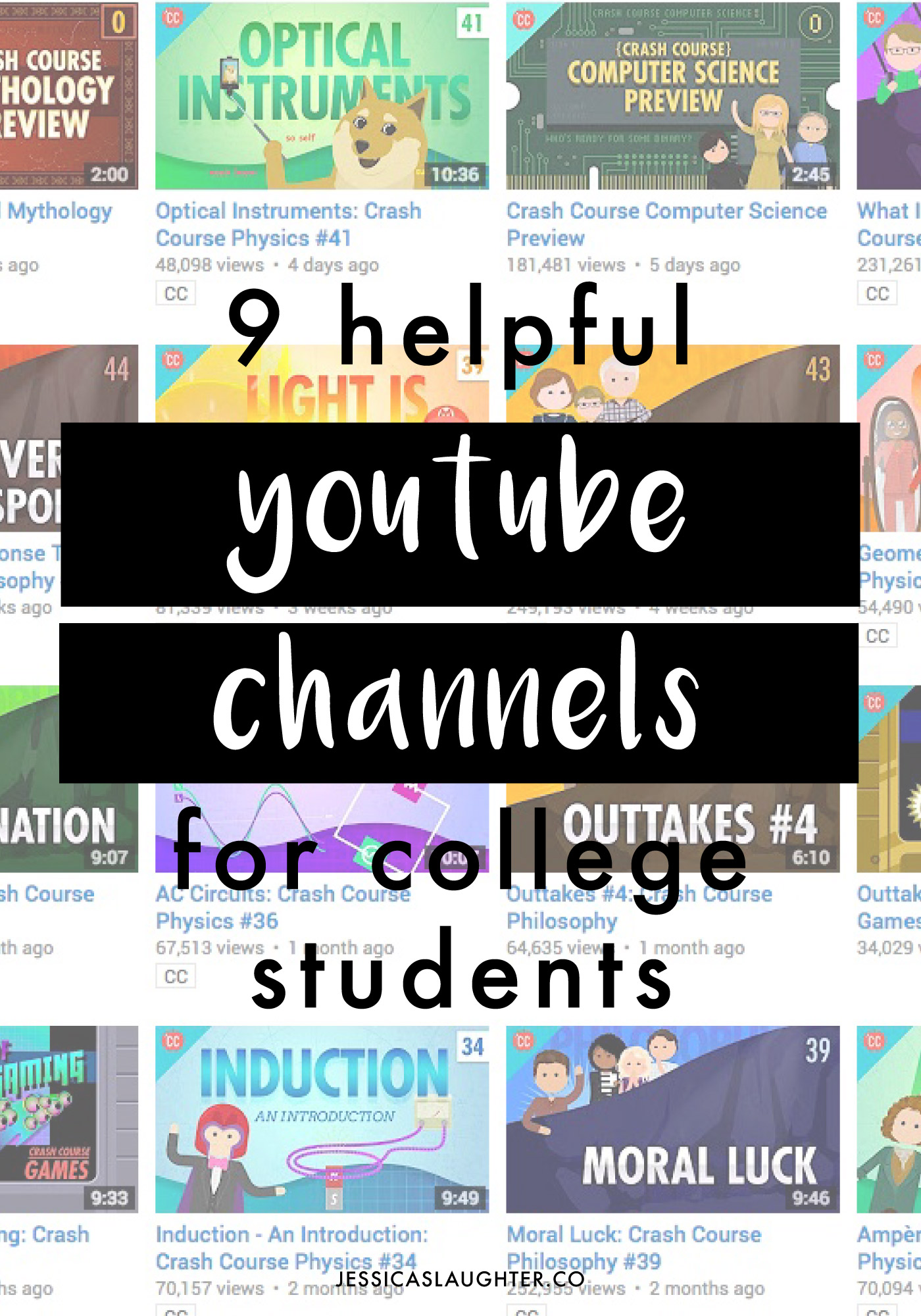 Helpful YouTube Channels For College Students - Jessica Slaughter