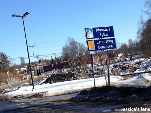 Leaving Oslo, entering Akershus county