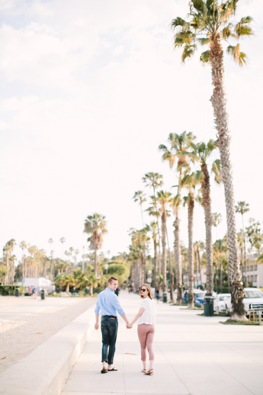 Santa Barbara Courthouse Beach engagement session