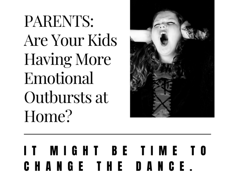 Image of young girl having emotional outburst, hands over her ears screaming