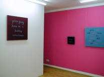 Football Chants Series (installation view), 2006. Galerie-33, Berlin.