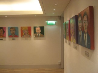 Installation View, portraits