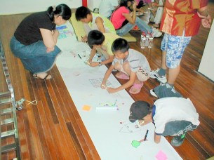 The Family Art Project, Li Min School (creating a new city), Island 6, Shanghai, 2006