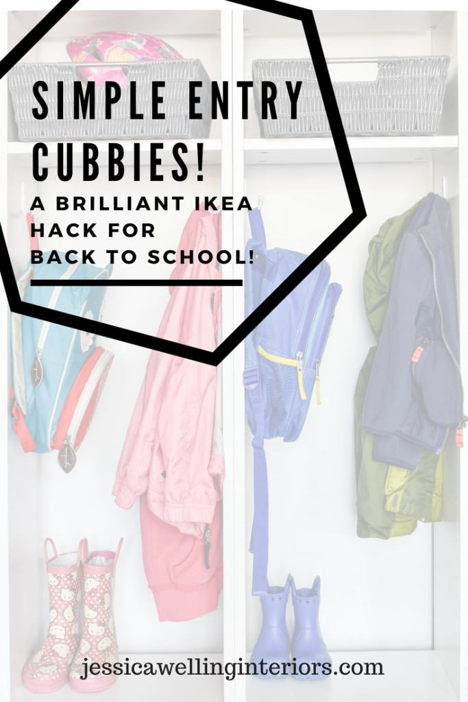 photo of entry cubbies ikea hack