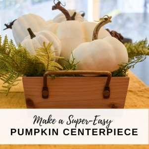 image of white pumpkin centerpiece