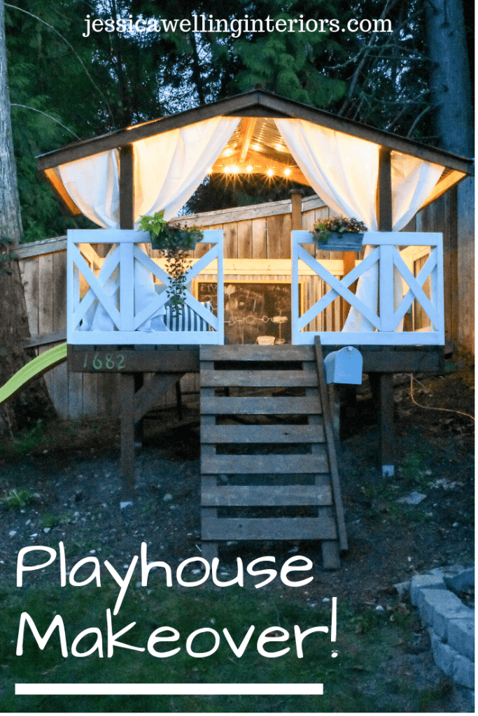 image of playhouse with string lights