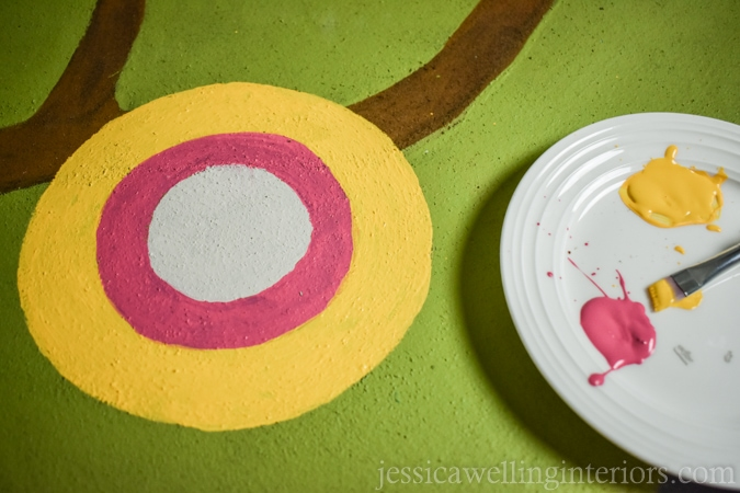 This easy DIY painted play rug is perfect for Li'l Woodzeez, Calico Critters, Little People, and more! It's the perfect mat for hours of imaginative play!
