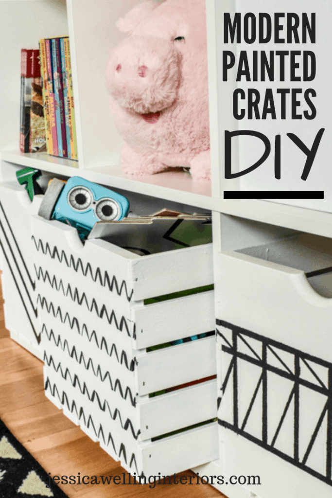 Give wood crates a modern makeover with this simple DIY tutorial! These wood crate storage ideas are perfect for storing and organizing toys, books, games, DVDs, and more!