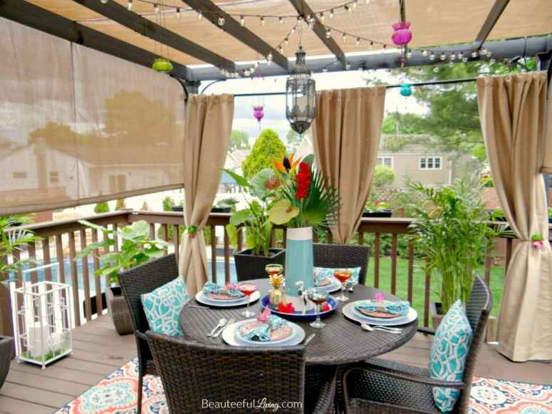 pergola patio shade idea covering deck dining space
