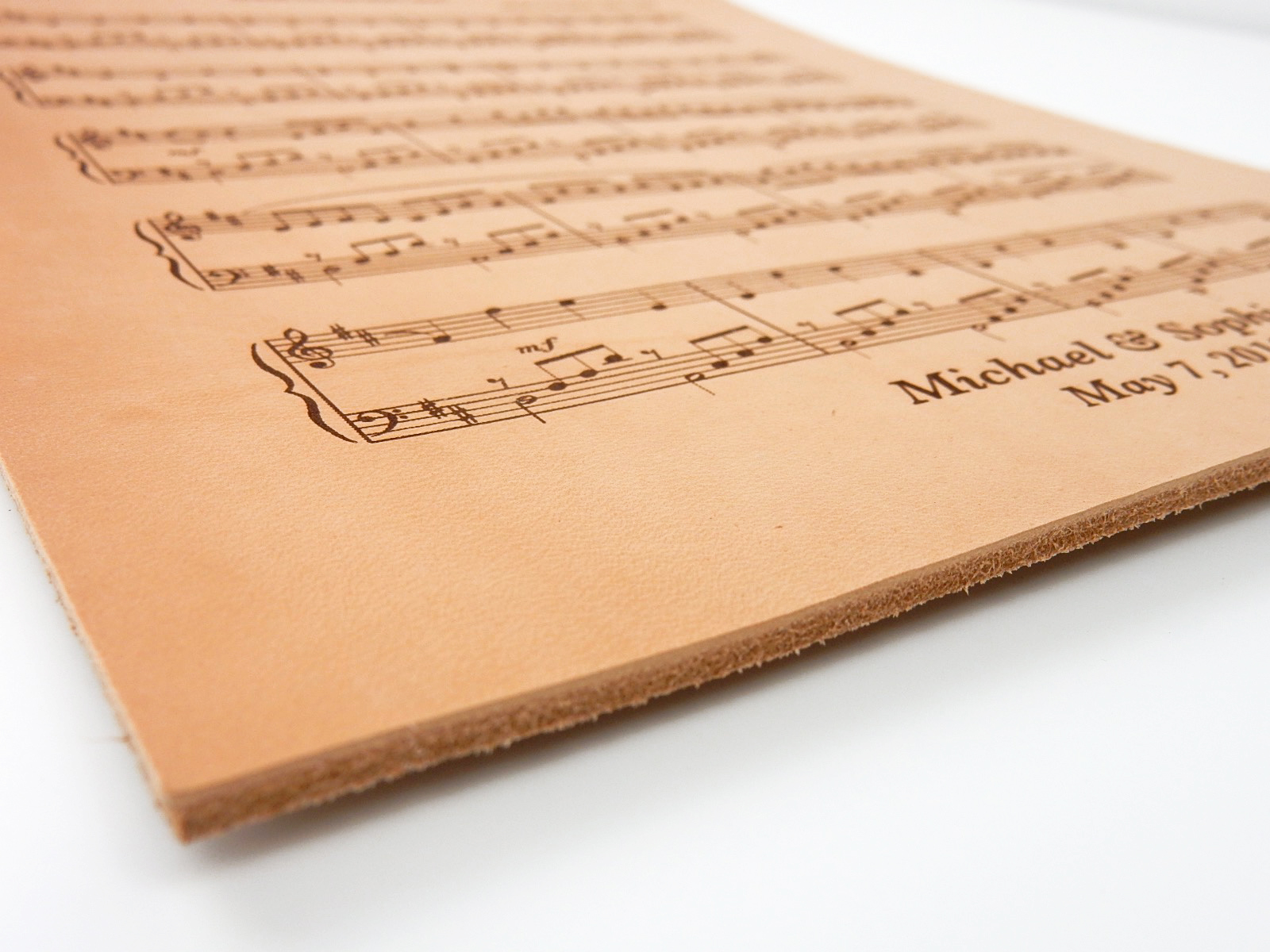 leather sheet music leather