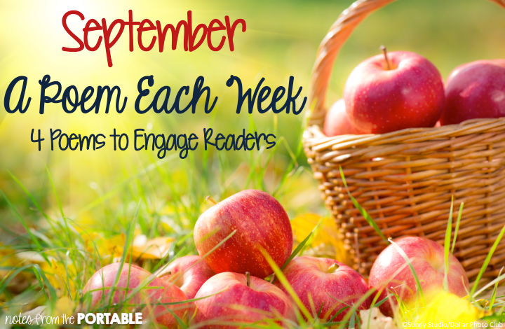 September A Poem Each Week. 4 Poems to Celebrate September. FREE questions and activities