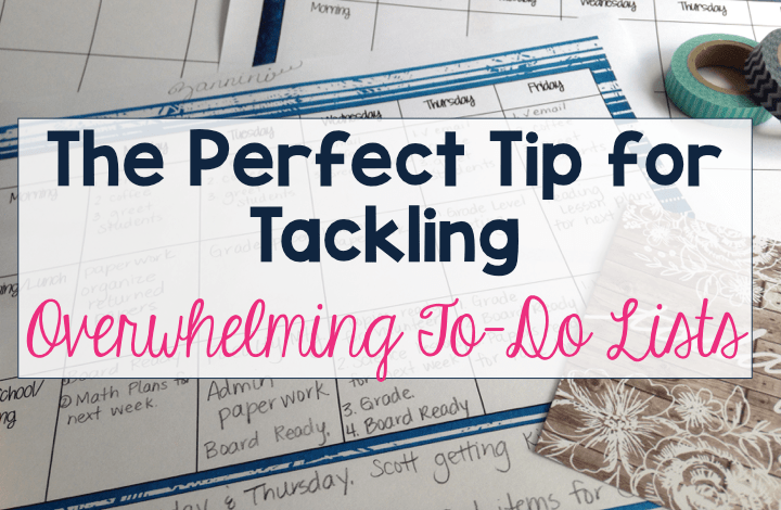 The Importance of a Weekly Schedule to Complete the Teacher To-Do List