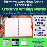 Creative Writing Bundle 4th/5th Grade - Lessons and activities for poetry, fiction, and personal narrative writer's workshop