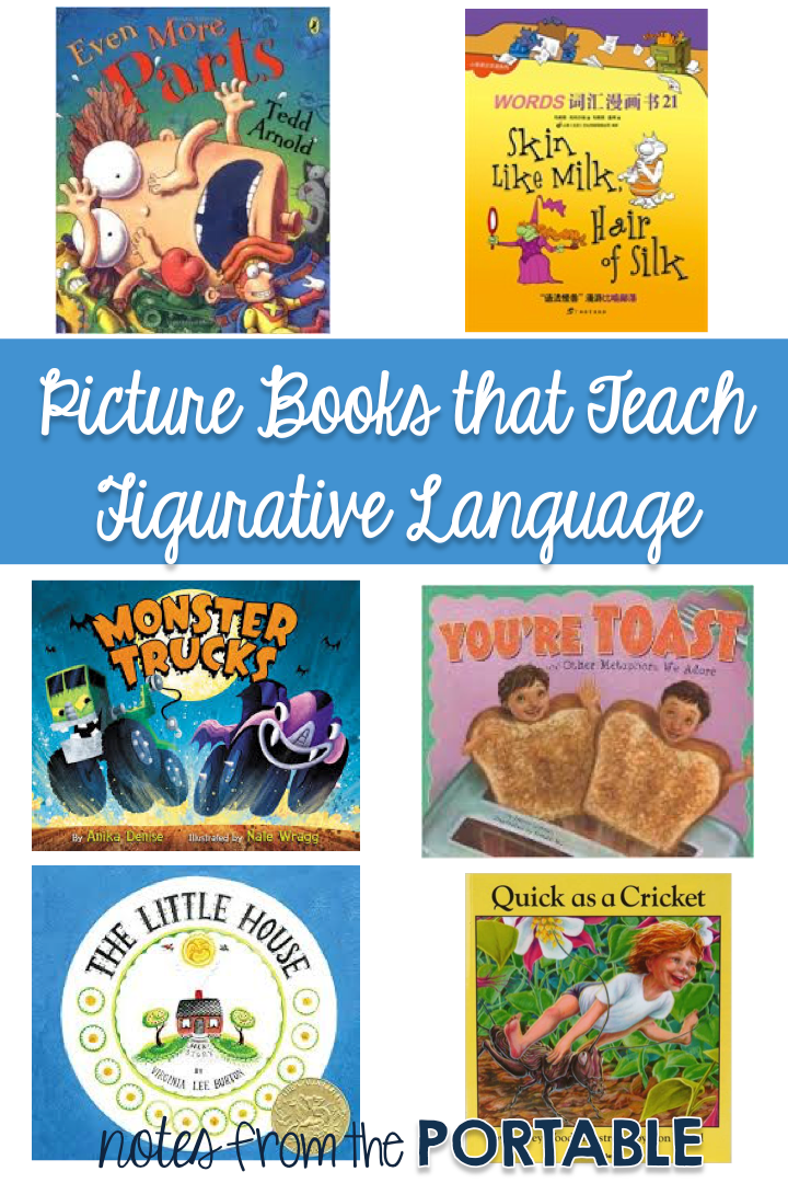 Great books for teaching figurative language: idioms, personification, similes, metaphors, onomatopoeia