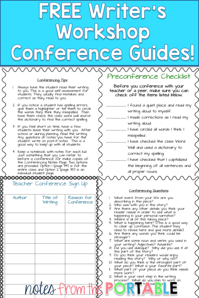 FREE writing conference guides.