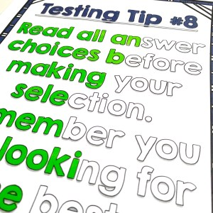 testing tips posters