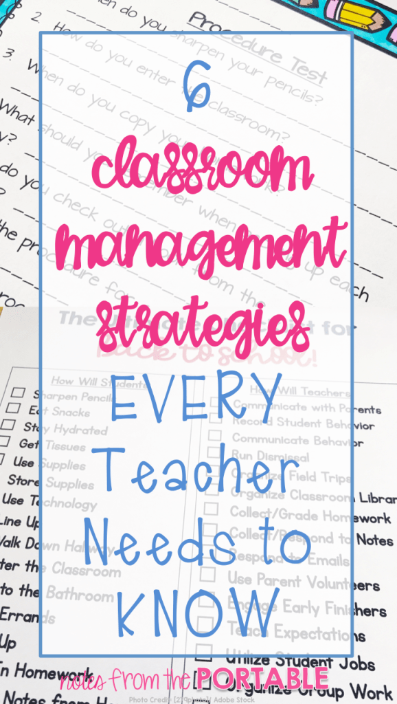 love these 6 classroom management strategies! Super helpful for back to school!