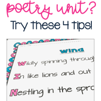 Totally Bored With Your Poetry Lesson Plans?  4 Things to Try Instead.