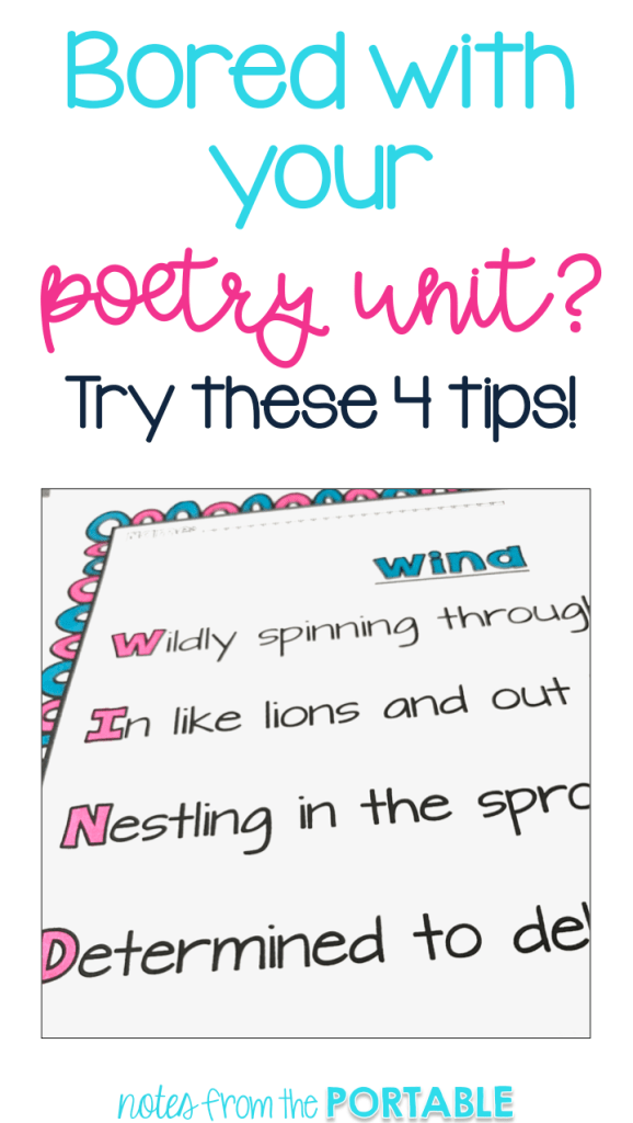 Great teaching ideas on making poetry fun.  My students loved these!
