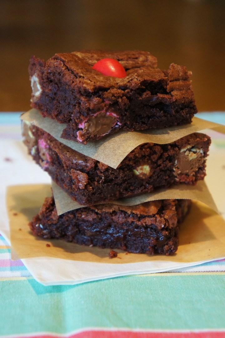 Smartie mini-egg brownies