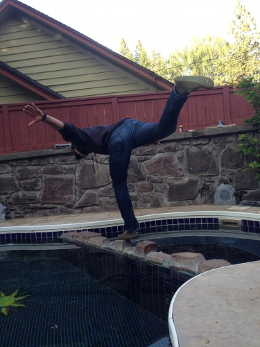 Matt raising the stakes in the balancing game...