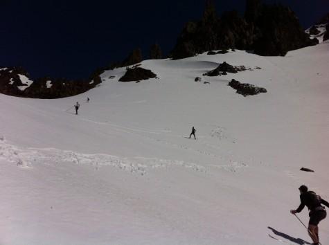 Whew! Great uphill practice (photo from Liz)