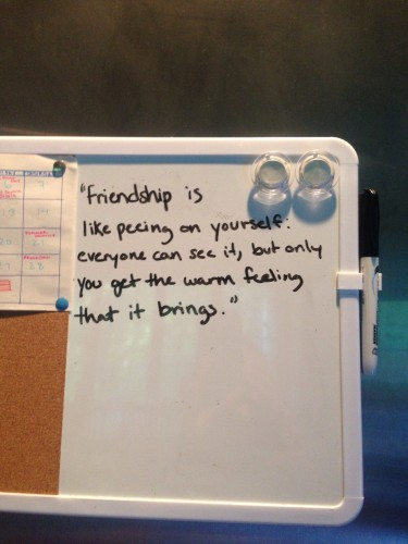 Our lovely quote of the day message board