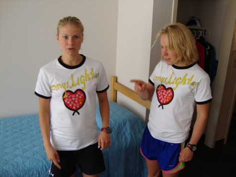 Soooo....who's turn was it to clean the room again? (Ida and I in the famous OTC in Lake Placid)