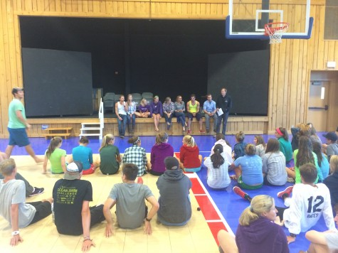 Q&A time with the Stratton Junior camp!