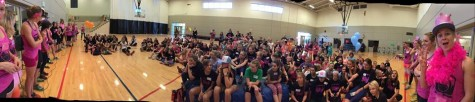 The girls listening to ambassador talks about competing in sport (USSA photo)