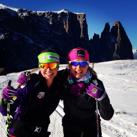 Me and Therese this morning. It was so fun to ski with her! (photo by Cork)