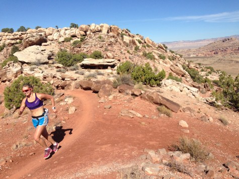 I loved when the trail wrapped around the edge of the cliff! (photo by Erika)