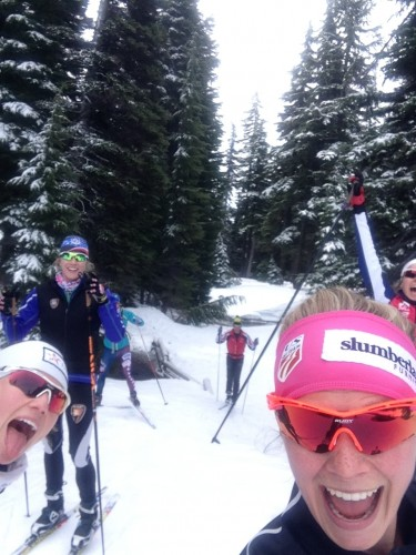 15 minutes into our ski and we are PSYCHED!