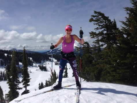 So happy to be out skiing through the woods and mountains! (photo from Pat)